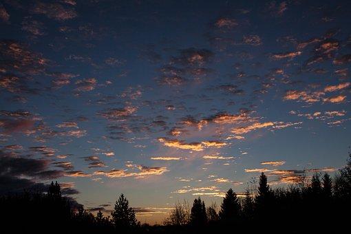 Sunrise, Clouds, Blue, Sky, Cloud, Clear, Sunny
