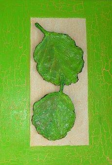 Verbana, Leaves, Green, Painting, Image, Art, Paint
