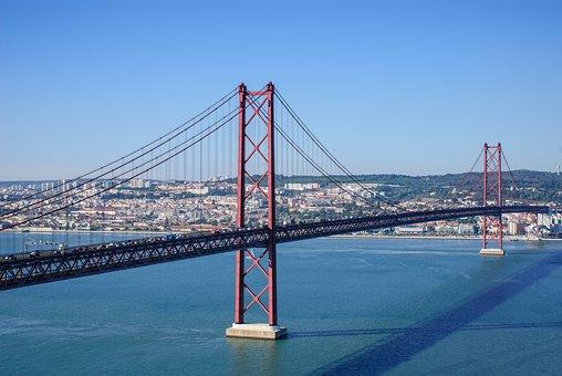 Ponte 25 De Abril, Lisbon, Bridge Of 25 April, Bridge