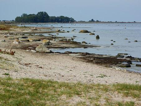 Oland, Sweden, Sea, Coast, Beach, Rocks, Stones