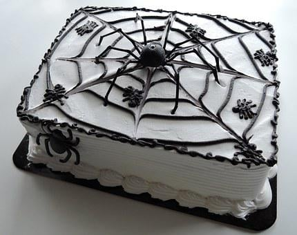 Halloween Cake, Spiders, Web, Chocolate, Food