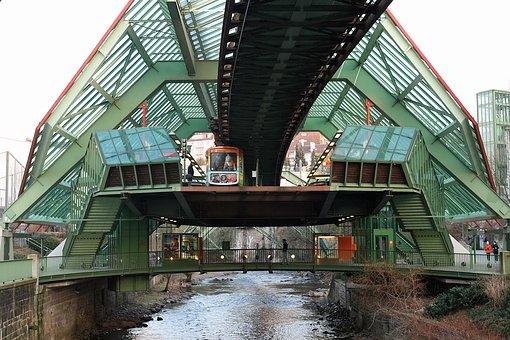 Metro, Wupertal, River, Station