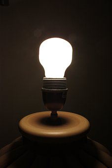 Lamp, Dark, Light, Bulb, Electric, Glowing, Milky