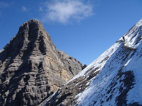 Hiking, Hike, Mountain, Mountains, Urbeleskarspitze