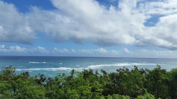 Hawaii, Ocena, Sea, Cloudy, Pacific