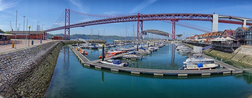 Lisbon, Bridge, Portugal, View, Ponte 25 De Abril
