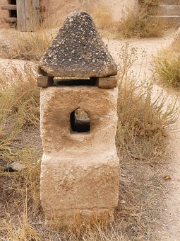 Fireplace, Rock Apartment, Chimney, Stone, Tufa