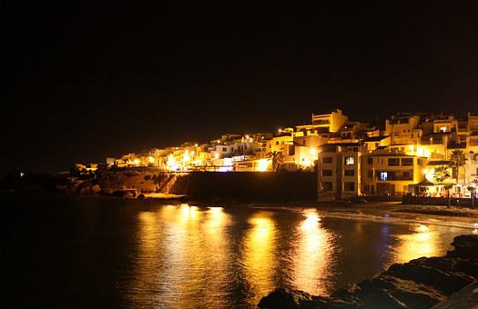 Selinunte, Sicily, Night, Country, Houses, Marinaro