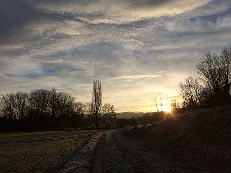 Clouds Landscape, Tree, Landscape, Light, Sky Sun