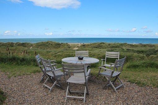 Svinkløv Seaside Hotel, Table, Chairs, The North Sea