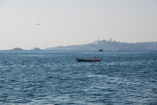 Turkey, Istanbul, Top Capi, Boat, Travel, Sea, Water