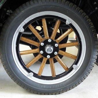 Wheel, Mature, Ford, Ford T, Oldtimer, Restored