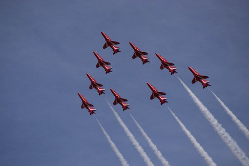 Southport Air Show, Red Arrows, Aircraft, Hawk Jets