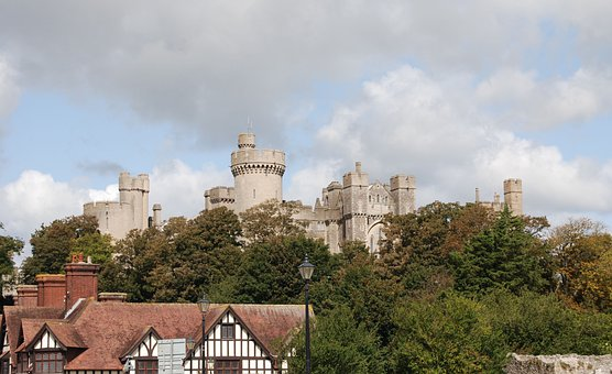 Castle, Tower, Historical, Arundal, Architecture
