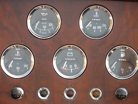 Auto, Instumententafel, Ad, Fuel Gauge