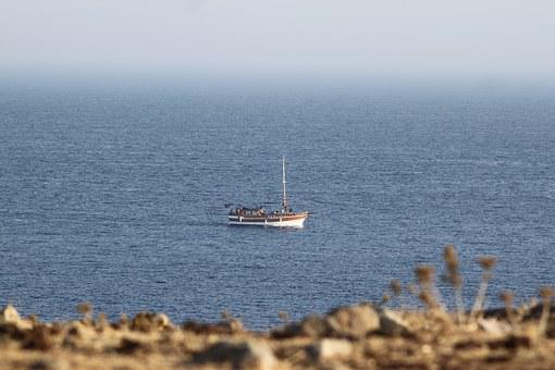 Gumbet, Turkish, Water, Nature, Landscape, Boat, Sea