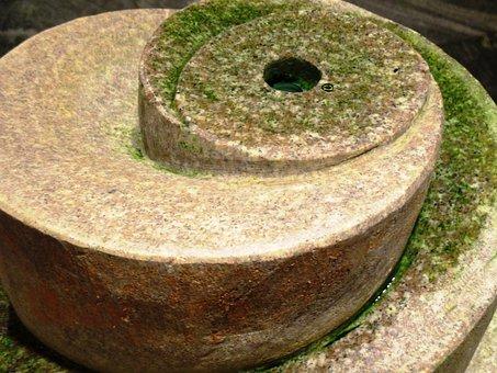 Fountain, Indoor Fountain, Stone, Water, Seaweed