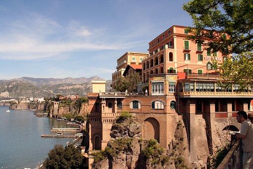 Cityscape, Coast, Water, Sea, Italy, Sorrento