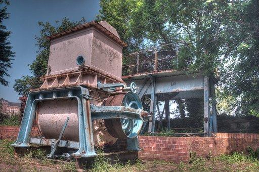 Holywell, Cotton Mill, Machine, Rusty, Metal