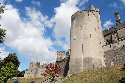 Arundal, Castle, Tower, Historical, Landmark, Medieval