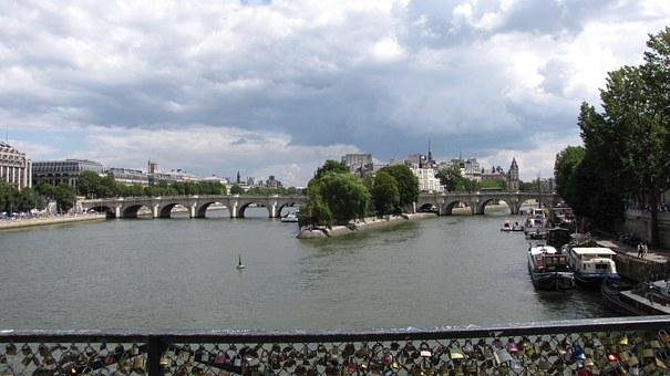 Pont Des Arts, Monument, Paris, Architecture, Promenade