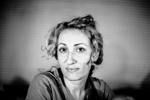 Shilja, Black And White, Portrait, Female, Person
