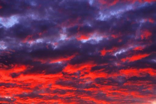 Sonnenutnergang, Sky, Clouds, Afterglow, Colorful