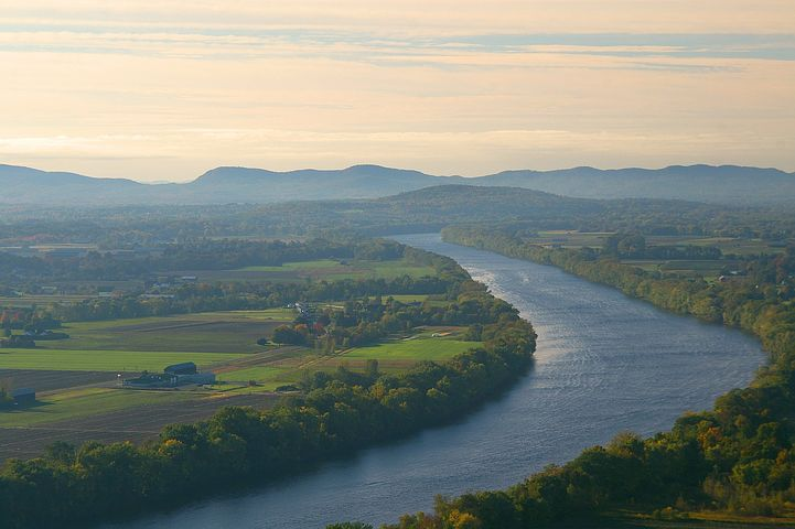 Connecticut, River, Mt, Sugarloaf, Landscape, Scenery