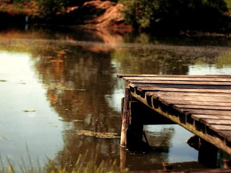 Watter, Molo, Bridge, Yellow, Autumn, Wood