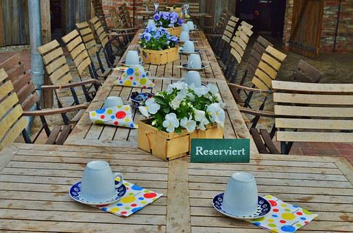 Birthday, Table, Seats, Reserved, T, Flowers, Cover