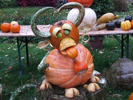 Pumpkin Art, Pumpkins, Blühendes Baroque