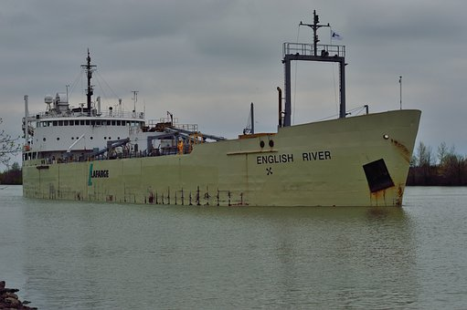 Welland Canal, Canada, Ship, English River, Transit