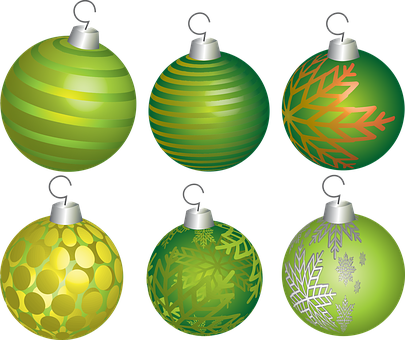 Christmas, Holiday, Ball, Decoration, Ornament, Green