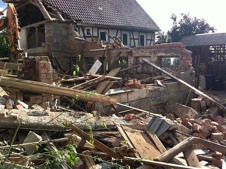 Demolition, Ruin, House, Removal, Elimination
