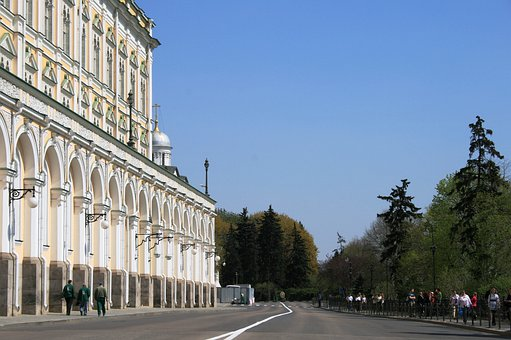 Great Kremlin Palace, White, Wide, Large, Building