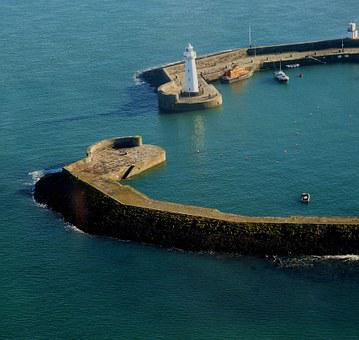 Lighthouse, Harbour, Sea, Safety, Water, Shore, Boat