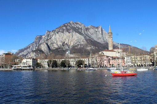 Panorama Di Lecco, Lecco, Lake Como, Lombardy, Italy