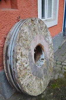 Millstone, Kraemersche, Kunstmühle, Munich, Giesing