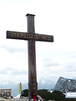 Salzburger Hochthron, Mountain, Alpine, Summit Cross