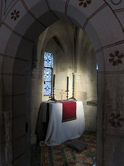 Chapel, Tower Of London, Worship, Tile, Stone, Archway