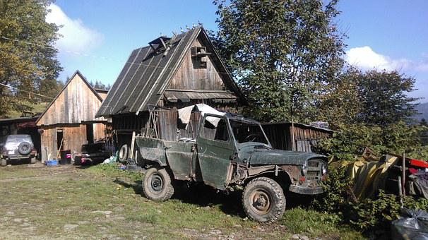Beskids, Poland, Jeep, Old Cars, Hiking, Tourism