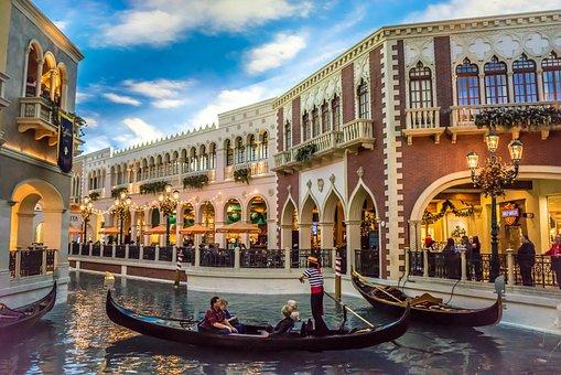 Venetian, Las Vegas, Gondola, Canal, Architecture