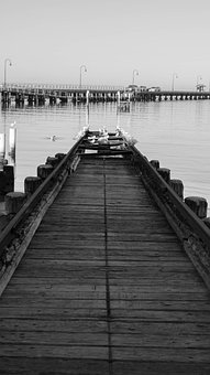 Pier, Ramp, Yacht Tracks, Sea, Yacht, Marine