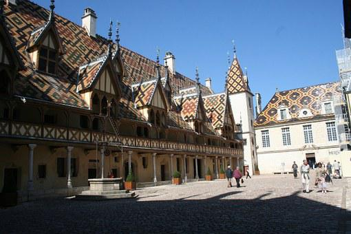 Hotel Dieu, France, Roof, Hospital, Architecture