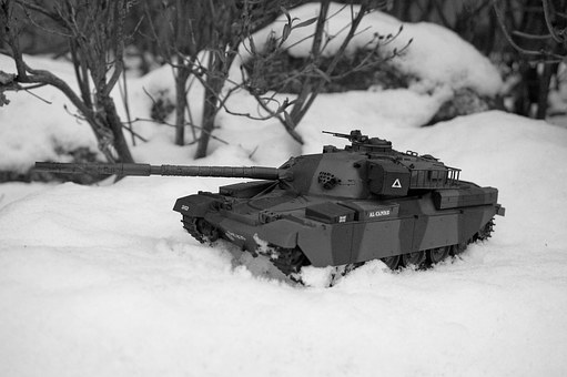Tank, United Kingdom, Army, Toy, Winter, Snow