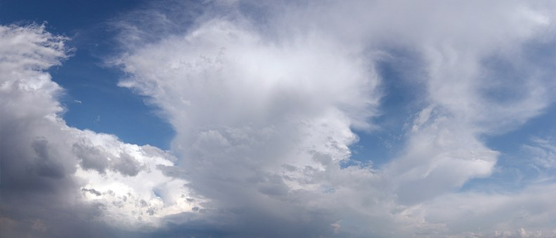 Panorama, Sky, Clouds, Summer, Daylight Saving Time