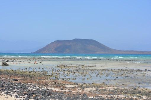 Isle De Lobos, Island, Fuerteventura, Sea, Beach
