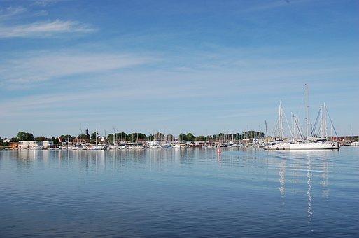 Kröslin, Port, Marina, Boats, Sail, Sail Masts, Ships