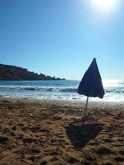 Backlighting, Sea, Beach, Mood, Empty, Lonely