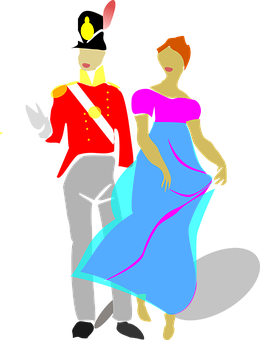 Couple, Man, Woman, Costume, Drama, Dress, Gown